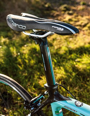 The deeply padded and channelled Ponza saddle is a comfy place to perch when you're out for a long time