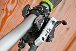 Shimano SLX 2x10 groupset brake lever and shifter
