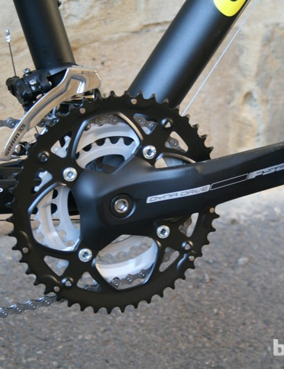 FSA's Dyna Drive triple chainset offers a decent range at the front