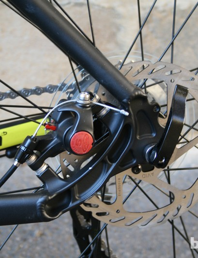 Avid BB5 mechanical disc brakes on the Boardman MX Race