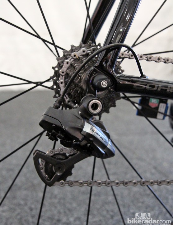 Sky is using Shimano Dura-Ace Di2 across the board. We expect the team to make the switch to the newer 9070 generation components later this spring