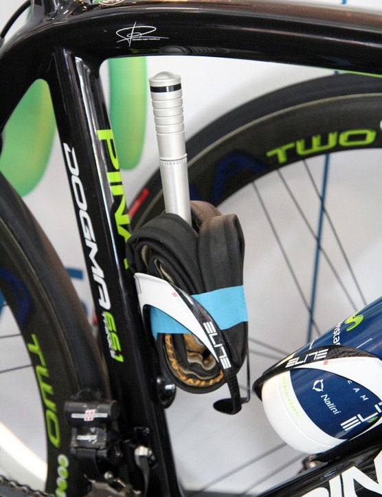 Team mechanics can't always follow the team, so riders are usually equipped with kits to use in the event of a puncture
