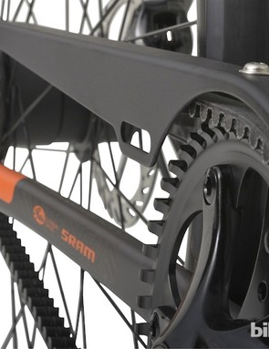 The internally-geared, 2-speed hub and belt drive make for a very low maintenance drivetrain