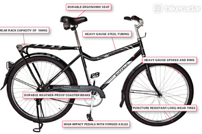Design features of a Buffalo Bicycle