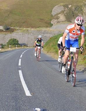 Climbing Horseshoe Pass in the 2012 Etape Cymru