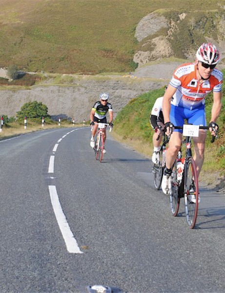 Climbing Horseshoe Pass in the 2012 Etape Cymru