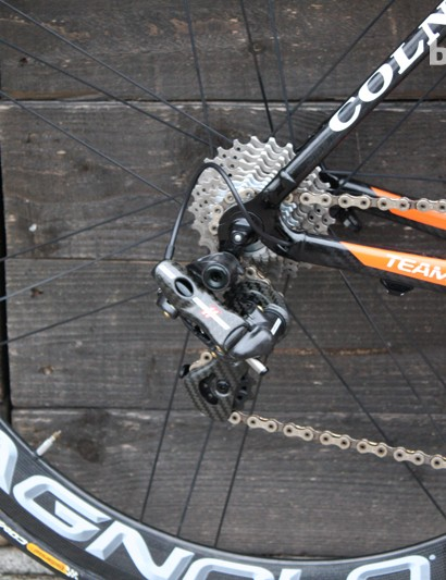 Campagnolo's EPS 11-speed features throughout