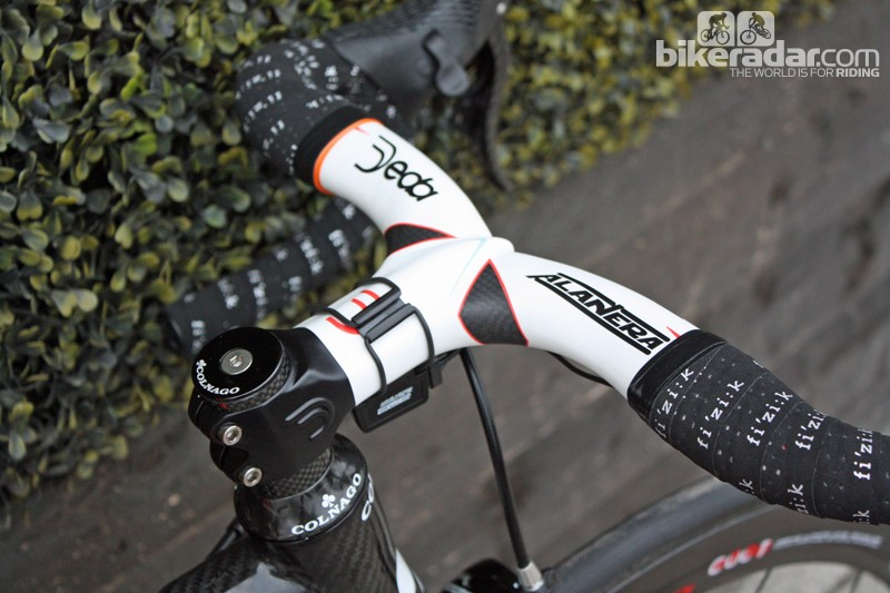 The Deda integrated bar and stem is unique to Rochelle's bike