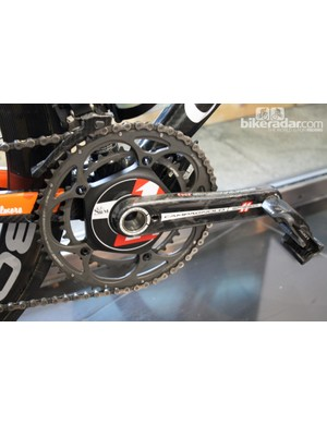 Rochelle uses a wireless SRM power meter mated to Super Record 170 crank arms