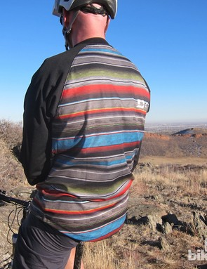 Dakine's new Dropout 3/4 Sleeve jersey is made with Microban antimicrobial technology, which kept the typical jersey stench at bay