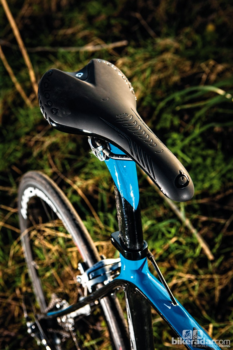Prologo's saddle is firm but extremely comfortable