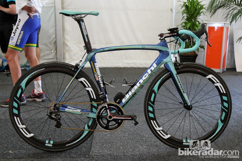 Neo-pro Willem Wauters (Vacansoleil-DCM) raced at the Tour Down Under on Bianchi's new Oltre XR