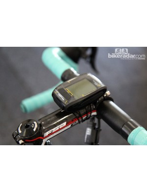Willem Wauters (Vacansoleil-DCM) is using CycleOps' new Joule GPS computer