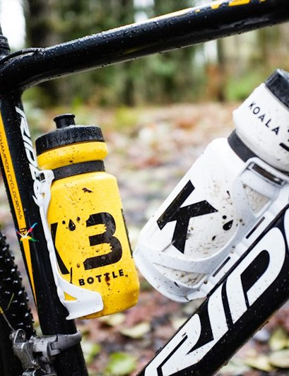 Koala Bottle says the bottles should hold securely in nearly all riding situations, although the system hasn't yet been tested in cyclocross races