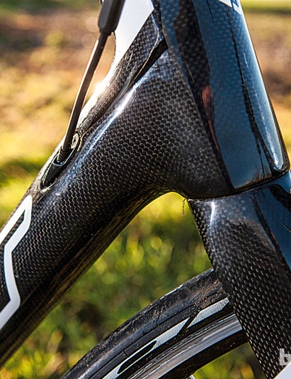 The Z5's head tube now features a 1.125in to 1.5in tapered design, adding stiffness up front