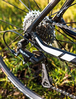 The wide 11-32 cassette gives a range of gears to conquer the very steepest climbs