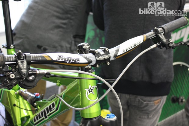 Hope's all new 'heavy duty' Techbar is aimed at downhillers, but at 290g we can see it appealing to trail riders too. It's not made in the UK though!
