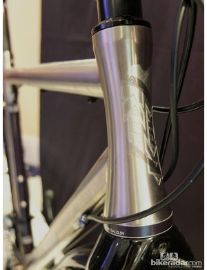 The Tripster's hourglass head tube is a beautiful thing
