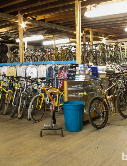 Owner Jeff Arches estimates that there are about 450 vintage bikes in his collection