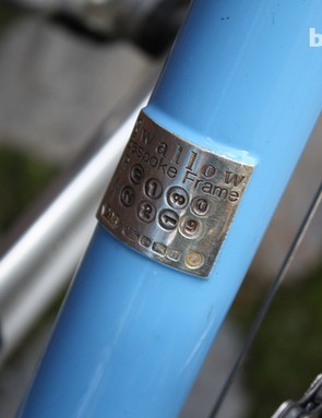 Peter's roots as a goldsmith means that each Swallow bike gets a solid silver hallmarked plate of identification