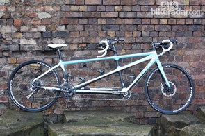 This Landescape carbon tandem was designed by Robert Wade and built by Cyfac