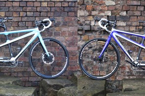 Rob and his partner Gillian couldn't agree on a paint scheme, so they went for both colours on opposing sides of the bike!