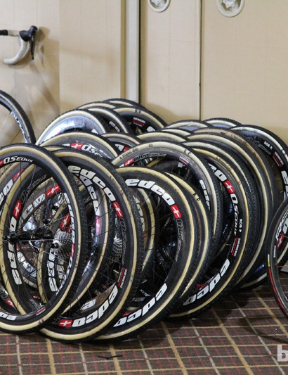 Start doing the math here, folks. Keep in mind, too, that this is just one of several piles of wheels on hand