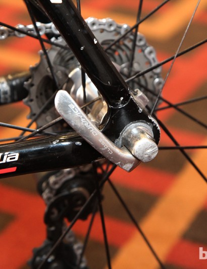 The thick aluminum dropouts perhaps aren't as light as carbon but they're well suited to cyclocross's frequent wheel changes
