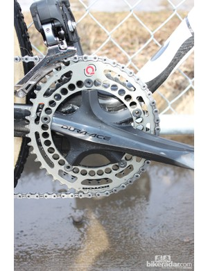 Vos runs Rotor chainrings on her road and cyclocross bikes