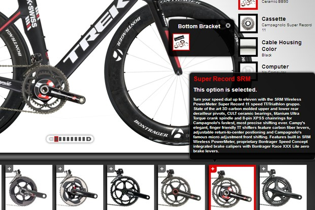 12956297439 The Trek Project One configurator now comes with SRM computer options