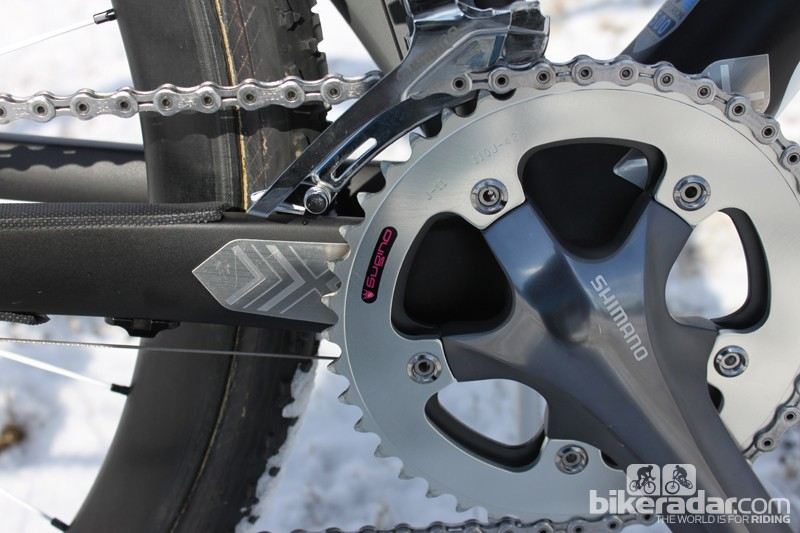 Batty spins a 42/34T chainring combo