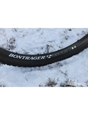 ...mounted to Bontrager Aeolus 3 D3 tubular carbon wheels