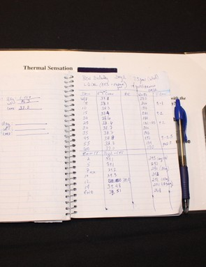 Handwritten notes provide a back-up to digitally recorded data