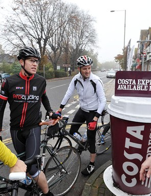 Coffee stop en route - yes please
