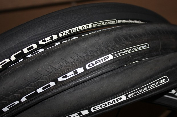 Michelin recently added three tires to its Pro4: The race-rubber Comp, the rainy-day Grip and the Tubular
