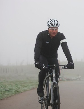 Sir Chris Hoy putting his machines to the test