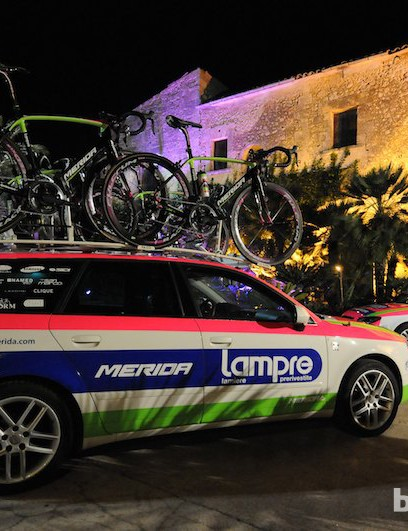Possibly the most peace these team cars will see this year