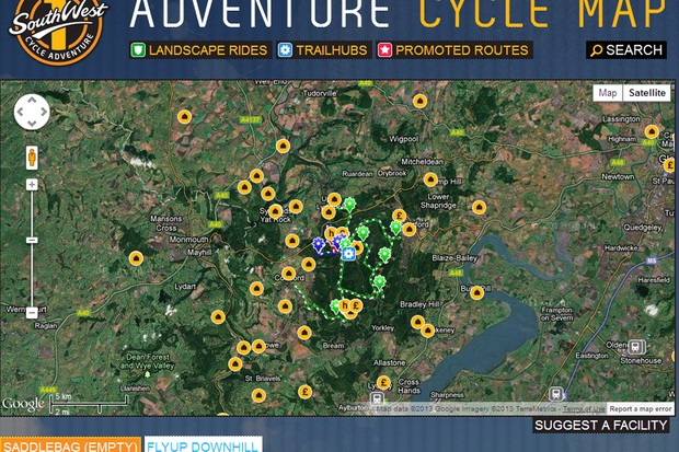 The 1 South West Adventure Cycle Map is very detailed and a great resource for beginners