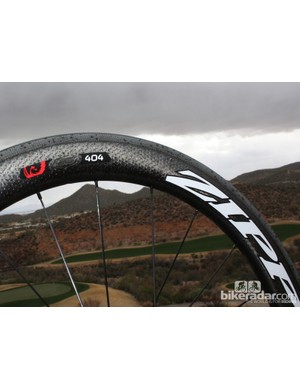 The new wheelset features Zipp's famous toroidal shape and dimpled profile