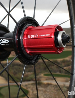 The wheels are 10- and 11-speed compatible