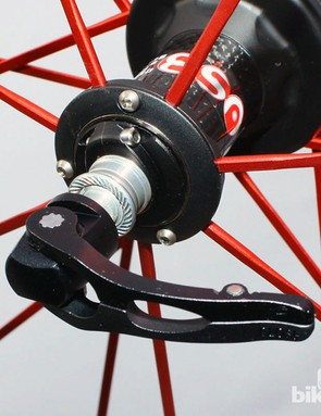 Fulcrum (and Campagnolo) revamped their skewer design a few years ago for a more modern look but with a more traditional - and more reliable - internal-type cam