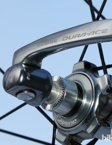 Shimano is one company that has never strayed from internal-type quick-release skewers