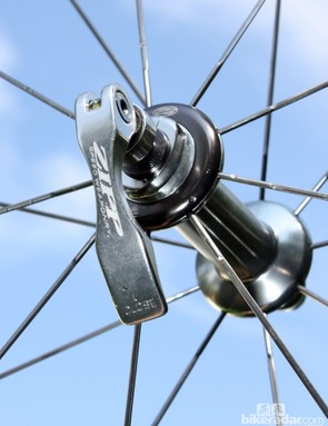 Zipp once used rather crude quick-release skewers but the newer ones are much better with brass cam washers and smaller-diameter pivots that generate less friction