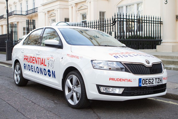 The new ŠKODA Rapid will be in action at this year's Prudential Ride London