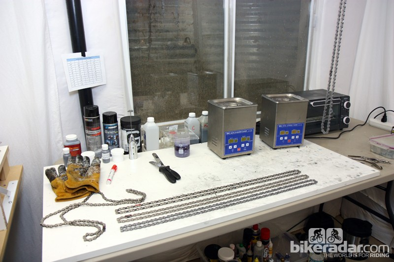 Tools of the trade - you can now make your own UltraFast chain at home, with or without all of this gear