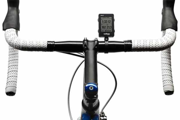 The Wahoo Fitness RFLKT computer can attach to the handlebar or stem