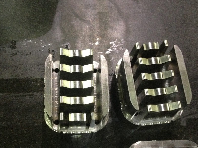 Molds for the pedal covers