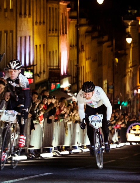 Red Bull Hill Chasers features a single steep uphill sprint —at night and, in Edinburgh, on cobbles