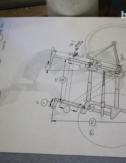 Blackett's figures from the Calfee Sizer can now be put forward for use with the BikeCAD software