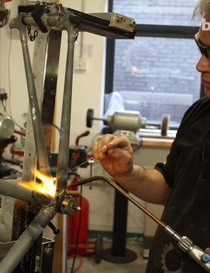 Peter Bird working his magic in the Bicycles by Design workshop in Shropshire, UK